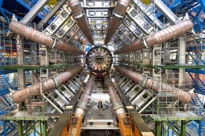Atlas experiment at the Large Hadron Detector. Photo credit CERN